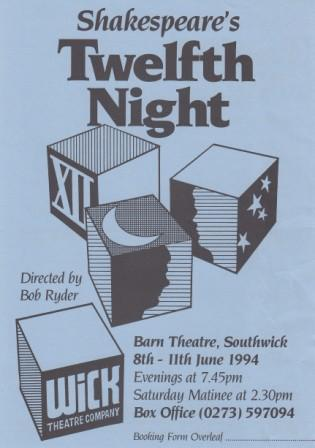 Twelfth Night flyer